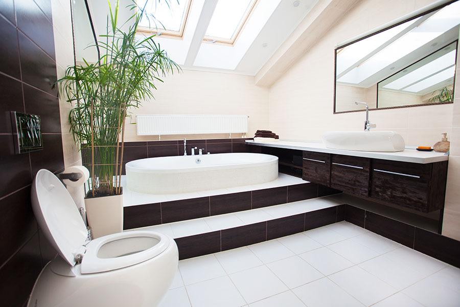Bathroom. Modern bath at home
